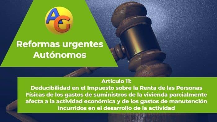 Art. 11 reformas urgentes autónomos 2017