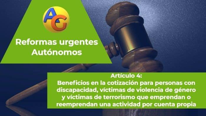 Art. 4 reformas urgentes autónomos