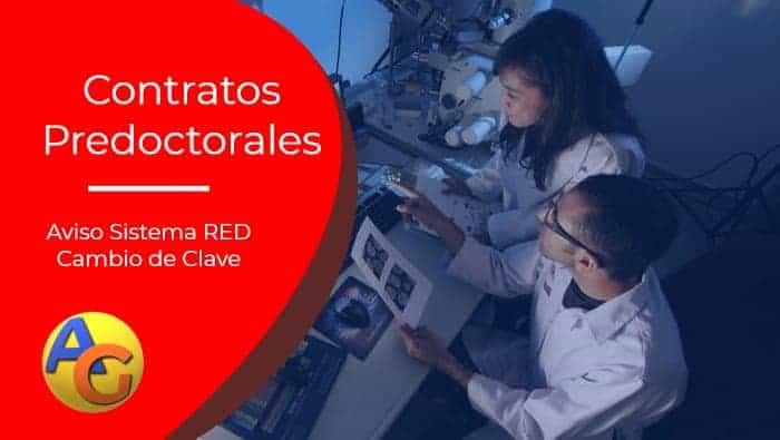 Aviso sistema red Contratos Predoctorales clave co