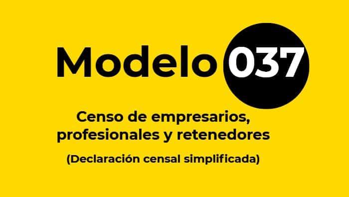 Modelo 037 guía