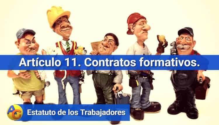 Artículo 11. Contratos formativos