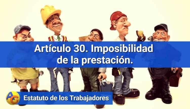 Artículo 30. Imposibilidad de la prestación