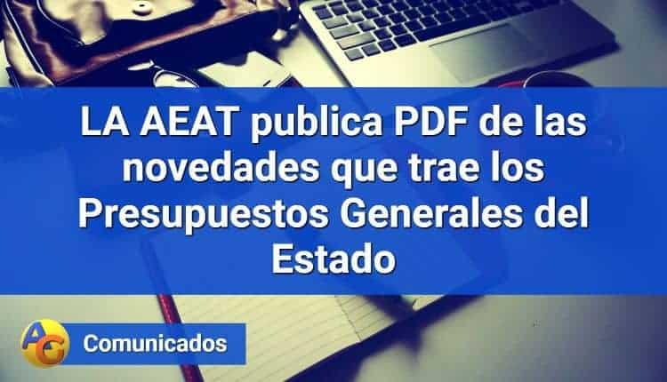 AEAT publica PDF novedades fiscales PGE 2018