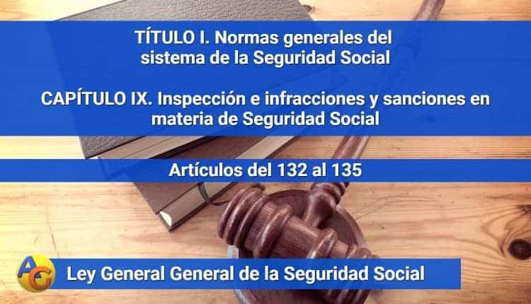 CAPÍTULO IX. Inspección e infracciones y sanciones en materia de Seguridad Social