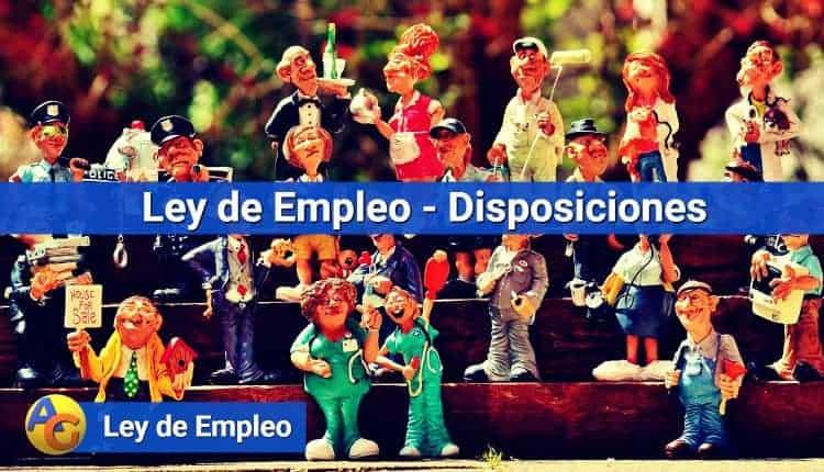 Ley de Empleo - Disposiciones