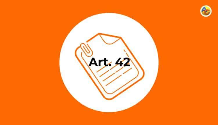 certificado de estar al corriente artículo 42