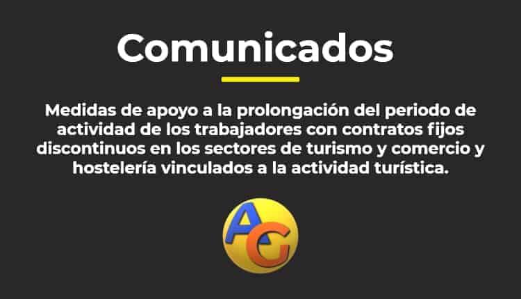 Comunicación de periodos de actividad fijos discontinuos en los sectores de turismo y comercio y hostelería